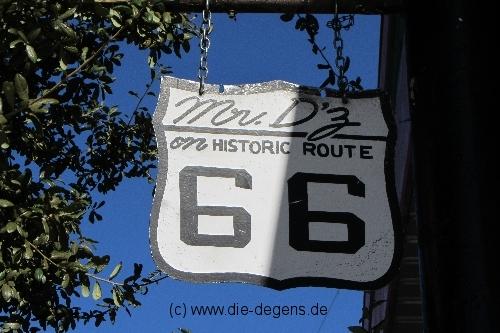 Mr. D'z Schild Route 66