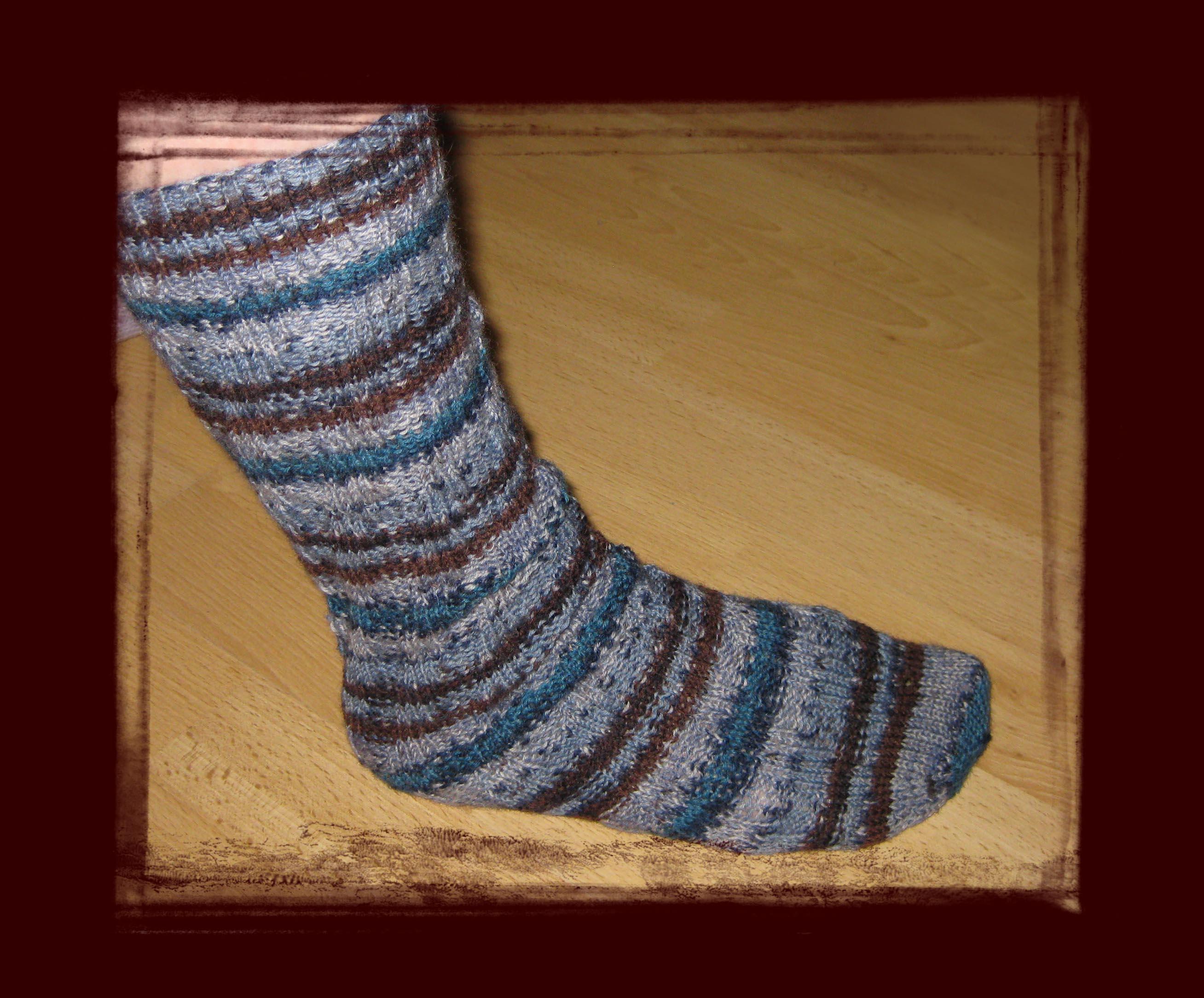 Mein erster selbstgestrickter Socken