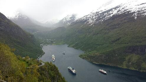 Wetterwechsel im Geirangerfjord