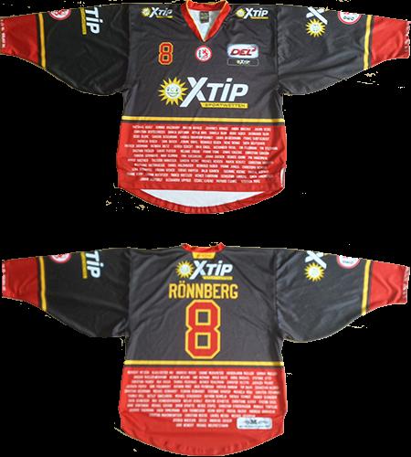 XTip-Aufwärmtrikot #8 gameworn aus der Saison 2015/2016