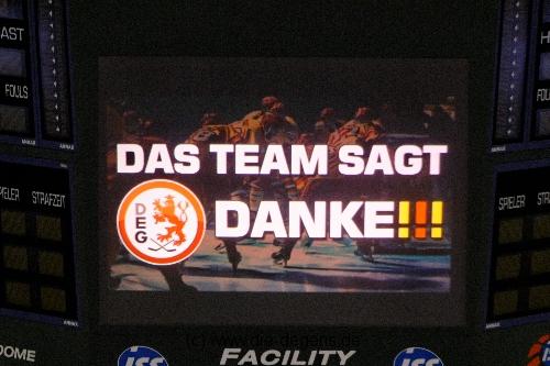 Letztes Heimspiel der DEG in der Saison 2013/2014
